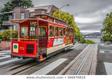 ilha · pôr · do · sol · backlight · San · Francisco · Califórnia · EUA - foto stock © hanusst