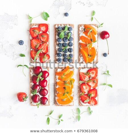 picknick · snacks · vergadering · picknickdeken · voedsel · hout - stockfoto © epstock