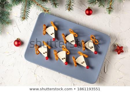 Fiesta aperitivos frescos salmón crema queso Foto stock © raphotos