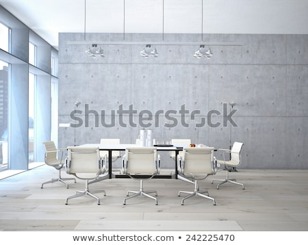 Modern conference room toned in blue Stock photo © Nejron