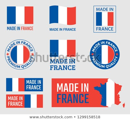 made in france   red rubber stamp stock photo © tashatuvango