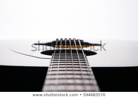 Stok fotoğraf: Detay · gitar · eski · klasik · arka · plan · sanat