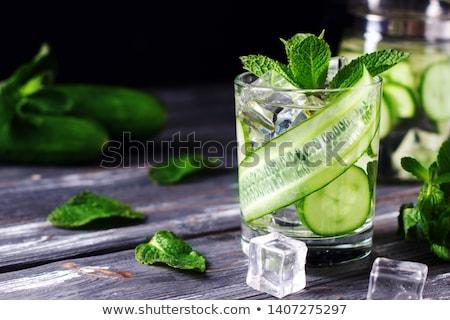 Foto d'archivio: Cetriolo · cocktail · alimentare · vetro · energia · colore