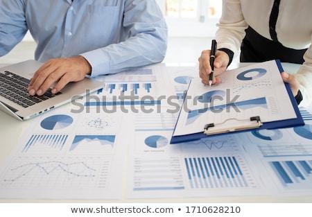 Resultados escrita financeiro plano conceito texto Foto stock © nenovbrothers
