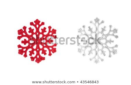 Christmas snowflakes in red 2 Stock photo © marinini