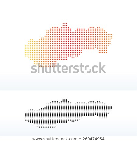 Map of Slovak Republic with Dot Pattern Stock photo © Istanbul2009