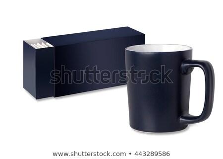 Donkere Blauw beker geïsoleerd witte achtergrond Stockfoto © borysshevchuk