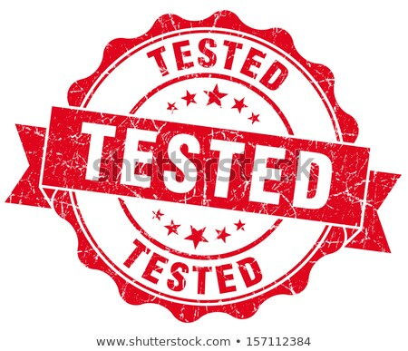 Grunge Office Stamp - TESTED Stock photo © PokerMan