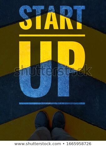 innovatie · grunge · woordwolk · bruin · retro - stockfoto © tashatuvango