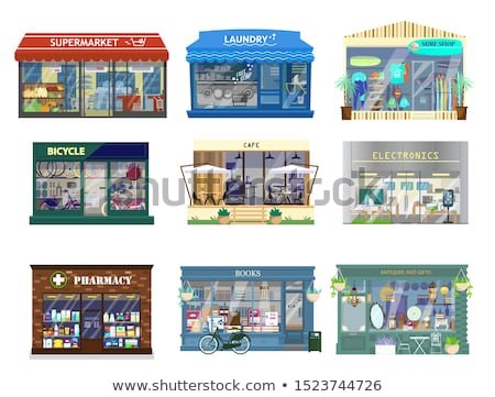 shop building with cityscape stock photo © wad