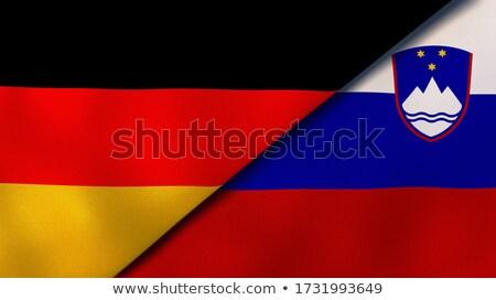 Németország Szlovénia zászlók puzzle izolált fehér Stock fotó © Istanbul2009
