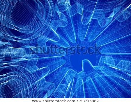 Heavy Industry Concept. Blueprint of Gears. Stock photo © tashatuvango