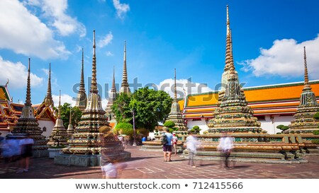 tempel · Bangkok · Thailand · buddha · hemel · gebouw - stockfoto © master1305