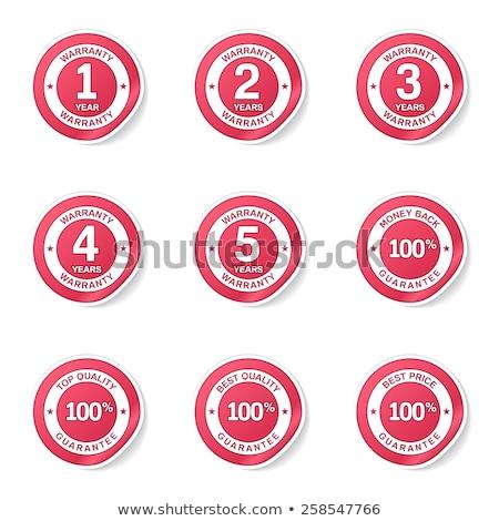 4 Years Warranty Pink Vector Button Icon Stock photo © rizwanali3d
