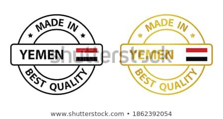 Iémen país bandeira mapa forma texto Foto stock © tony4urban
