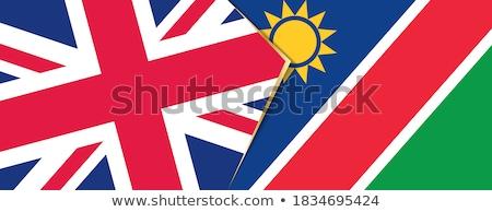Büyük Britanya Namibya bayraklar bilmece yalıtılmış beyaz Stok fotoğraf © Istanbul2009
