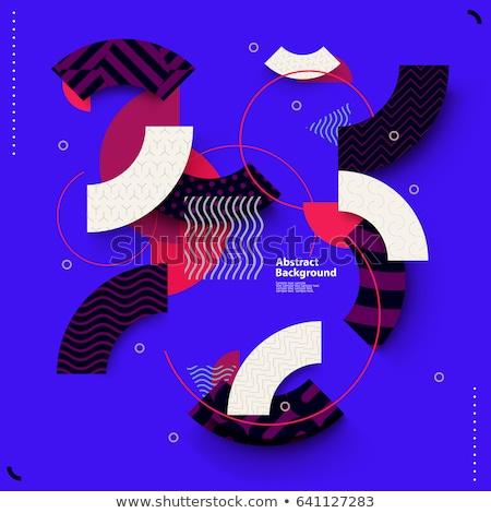 Vermelho preto geométrico formas abstrato triângulo Foto stock © igor_shmel