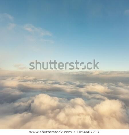 珍しい 雲 海 背景 オレンジ 青 ストックフォト © Leonardi