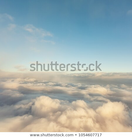 Insolite nuages mer fond orange bleu Photo stock © Leonardi