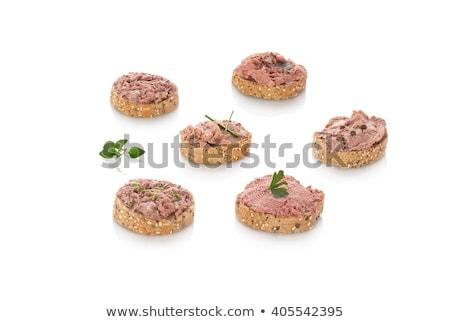 szendvics · tyúk · máj · fehér · sütés · papír - stock fotó © digifoodstock