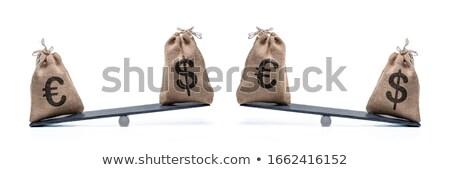 Euro zwarte slide goud symbool reflectie Stockfoto © timbrk