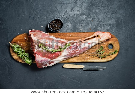 Stock fotó: Raw Lamb Leg