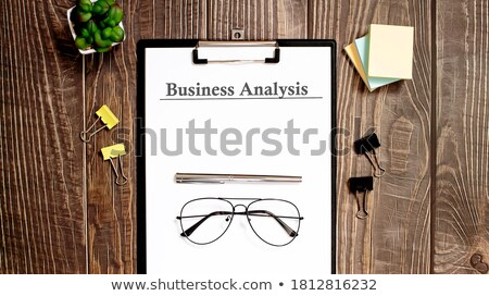 Költségvetés szó iroda szerszámok fa asztal pénz Stock fotó © fuzzbones0