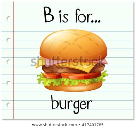 Mektup Burger örnek arka plan sanat eğitim Stok fotoğraf © bluering