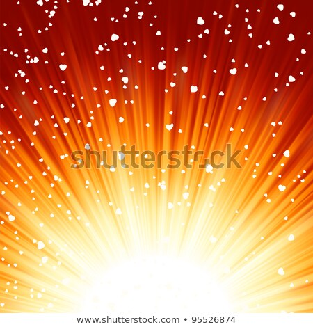 Red lights rays valentine card. EPS 8 Stock photo © beholdereye