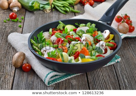 ratatouille, fried vegetable and herbs Stock photo © M-studio
