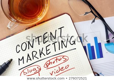 Content marketing word on notepad Stock photo © fuzzbones0