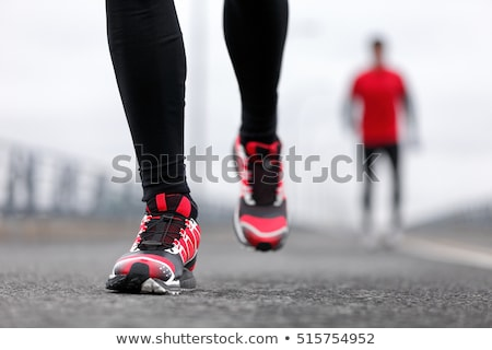 Sport shoes on street pavement Stock photo © stevanovicigor