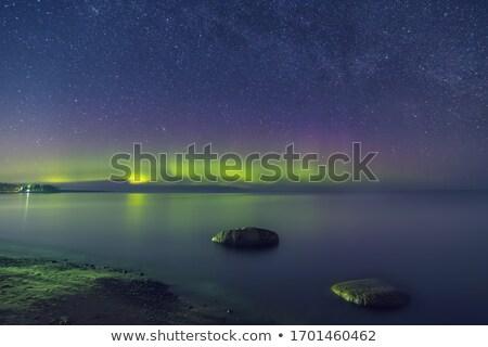 Zimą jezioro Rosja zamrożone wody domu Zdjęcia stock © dashapetrenko