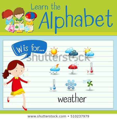 List w pogoda ilustracja śniegu tle sztuki Zdjęcia stock © bluering