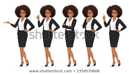 Black businesswoman pointing Stock photo © szefei