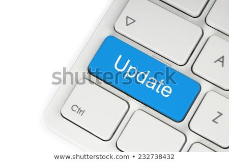 Clavier bleu bouton mettre à jour affaires bureau Photo stock © Zerbor