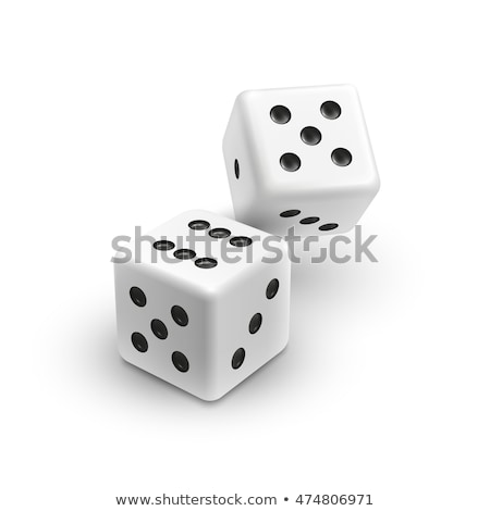 two black game dices 3d stock photo © djmilic