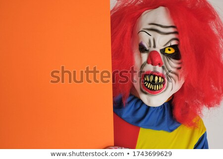 evil clown and text happy carnival Stock photo © nito