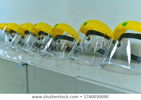 Yellow lockers with accessories Stock photo © bezikus