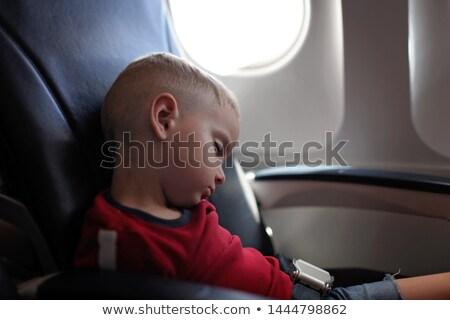 детей расслабляющая спальный самолета бизнеса класс Сток-фото © meinzahn