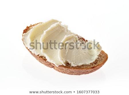 chignon · fromage · cottage · farce · milieu · ouvrir · déjeuner - photo stock © digifoodstock