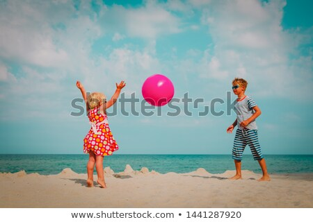 sisters playing ball stock photo © fotoyou