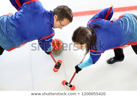 curling player playing on the rink stock photo © rastudio