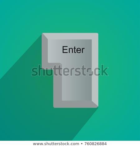 Finger Presses Blue Keyboard Button Enter. Stock photo © tashatuvango