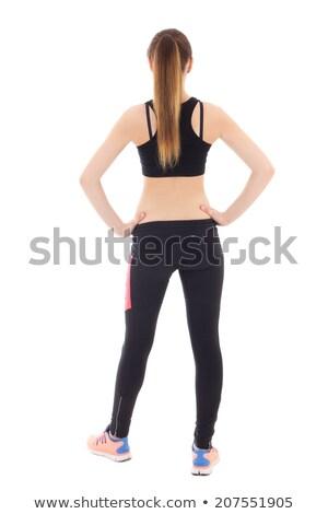 rear view of caucasian woman in sport wear stock photo © julenochek