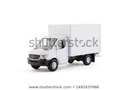 pequeno · caminhão · ilustração · 3d · amarelo · branco · entrega - foto stock © nobilior