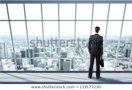 Adam bakıyor evrak çantası ofis iş teknoloji Stok fotoğraf © IS2