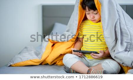 кавказский мальчика играет игры Сток-фото © RAStudio