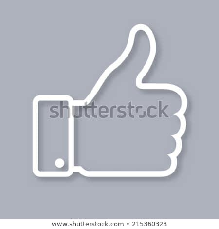 親指 アップ グレー ボタン 広場 手 ストックフォト © Ecelop