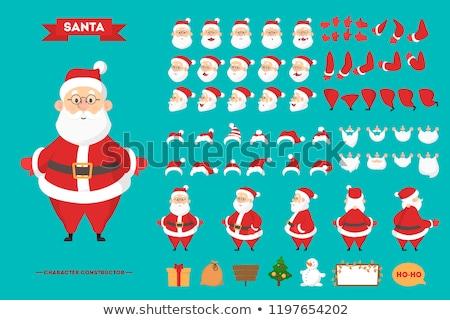 Gelukkig glimlach kerstman geïsoleerd witte vector Stockfoto © NikoDzhi